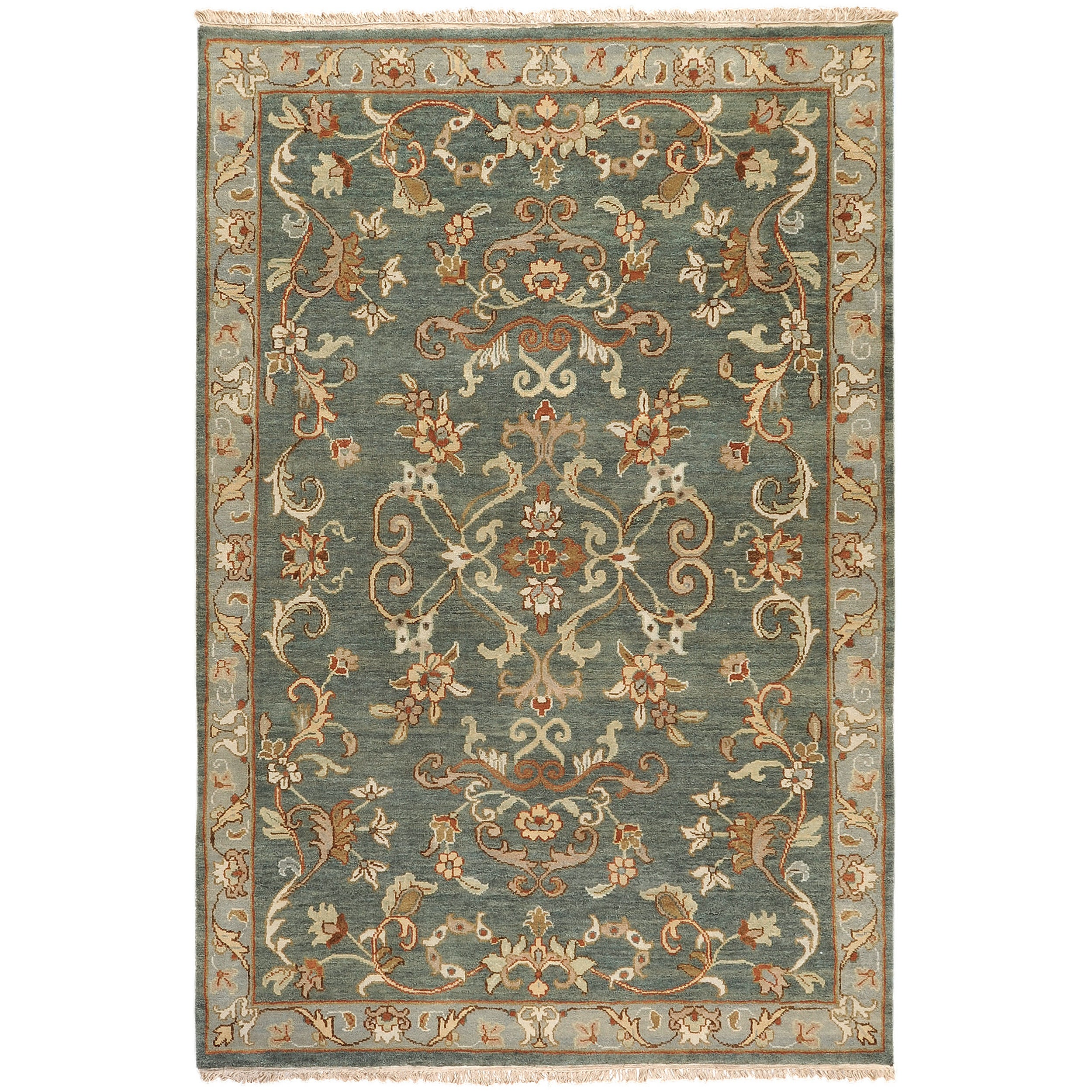 Hand-knotted Multicolored Calurnet Semi-Worsted New Zealand Wool Rug (9' x 13')