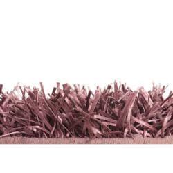 Hand-woven Purple Ashland Plush Shag Rug (2' x 3') - Thumbnail 2