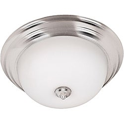 Triomphe One-Light Flush-Mount Brushed-Steel Fixture