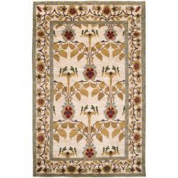 Hand-Knotted Multicolored Bordered Ashland Wool Rug (2' x 3')