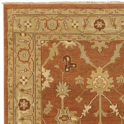 "Hand-Knotted Multicolored Adams New Zealand Wool Area Rug (3'9"" x 5'9"") - Thumbnail 1"