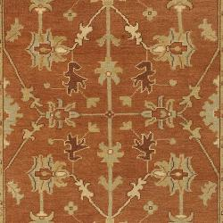"Hand-Knotted Multicolored Adams New Zealand Wool Area Rug (3'9"" x 5'9"") - Thumbnail 2"