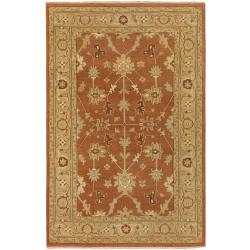 Hand-Knotted Multicolored Adams New Zealand Wool Area Rug - 3'9 x 5'9 - Thumbnail 0