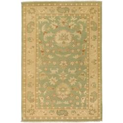 Hand-knotted Multicolored Adams New Zealand Wool Rug (3'9 x 5'9)