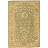 Hand-knotted Multicolored Adams New Zealand Wool Area Rug (3'9 x 5'9)