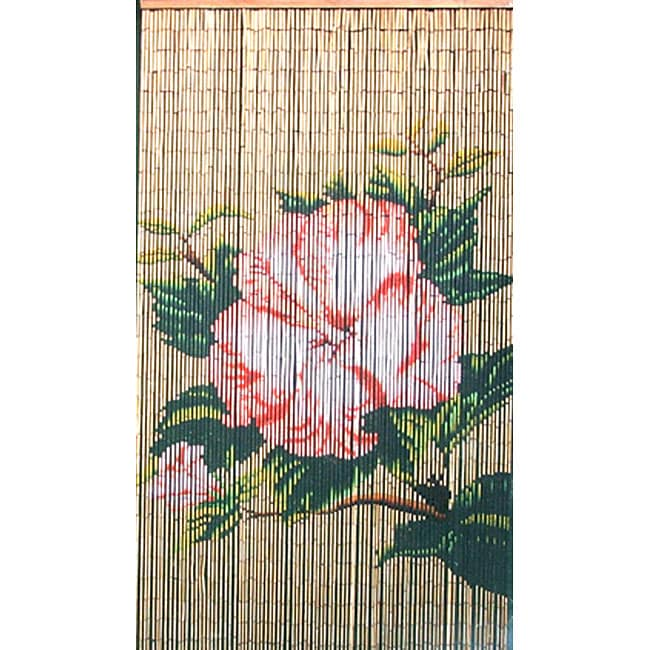 Lotus flower bamboo curtain vietnam free shipping for Where to buy curtain panels