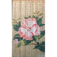 Lotus Flower Bamboo Curtain (Vietnam) - 36 x 80