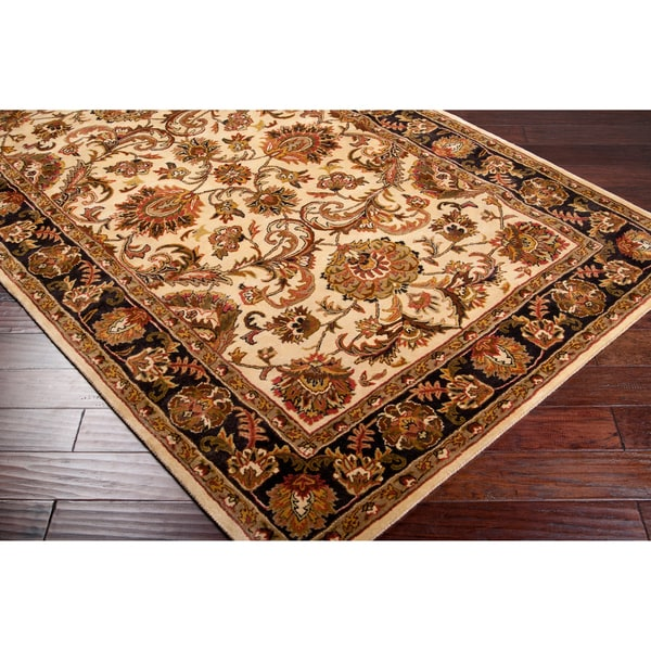 Hand-tufted Multicolored Adams Semi-Worsted New Zealand Wool Rug (2' x 3')