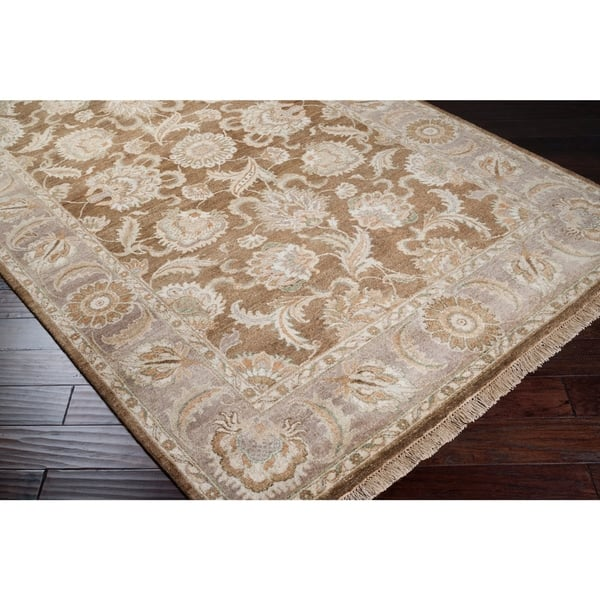 Hand Knotted Brown Main Ave New Zealand Wool Area Rug 2 6 X 10 Runner Surplus