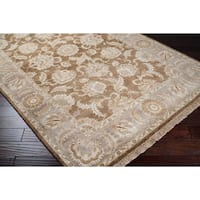 Hand-knotted Brown Main Ave New Zealand Wool Area Rug - 2'6 x 10'
