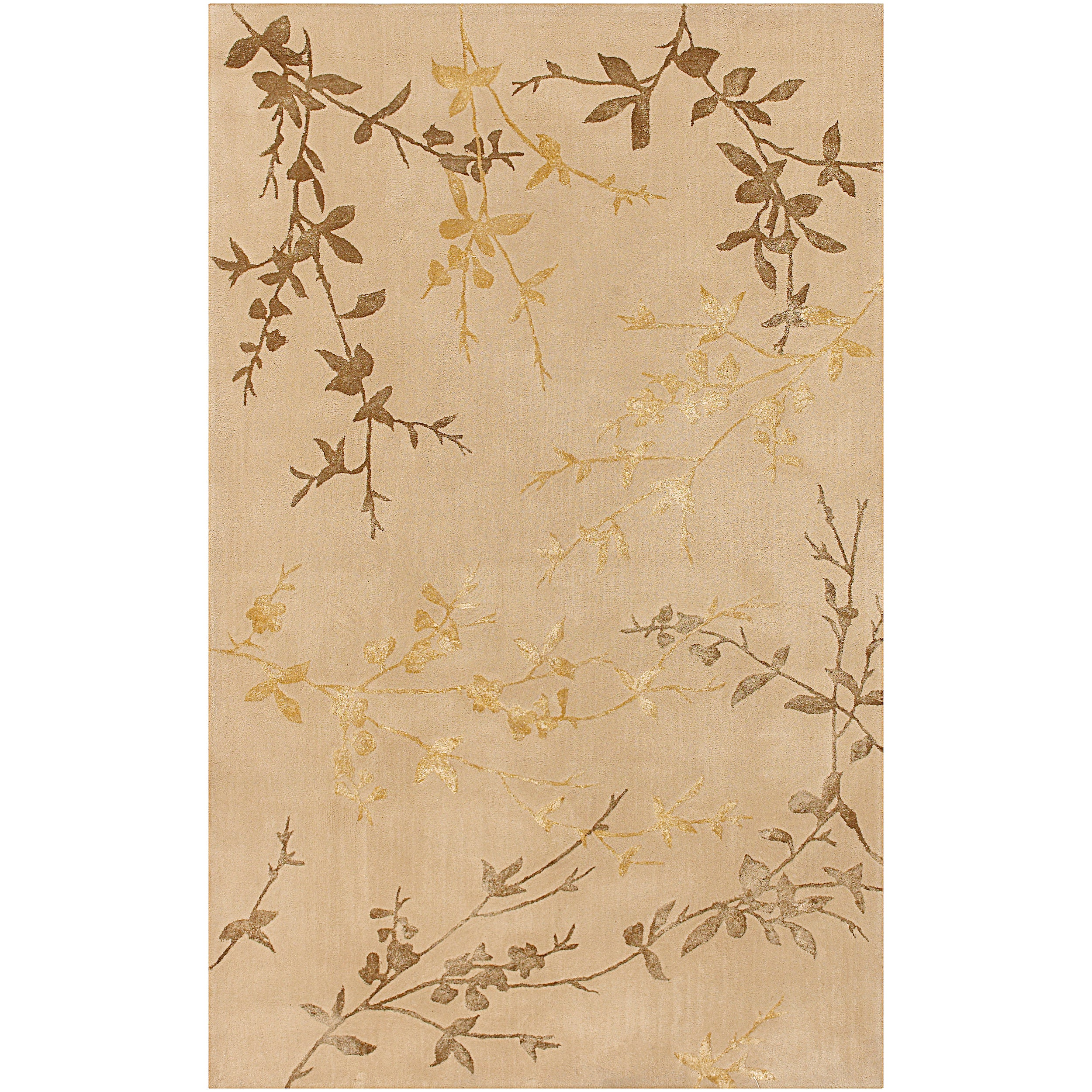 Hand-tufted Beige Tame Wool/ Viscose Area Rug (9' x 13') - 9' x 13'