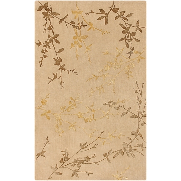 Hand-tufted Beige Tame Wool/ Viscose Area Rug - 9' x 13'