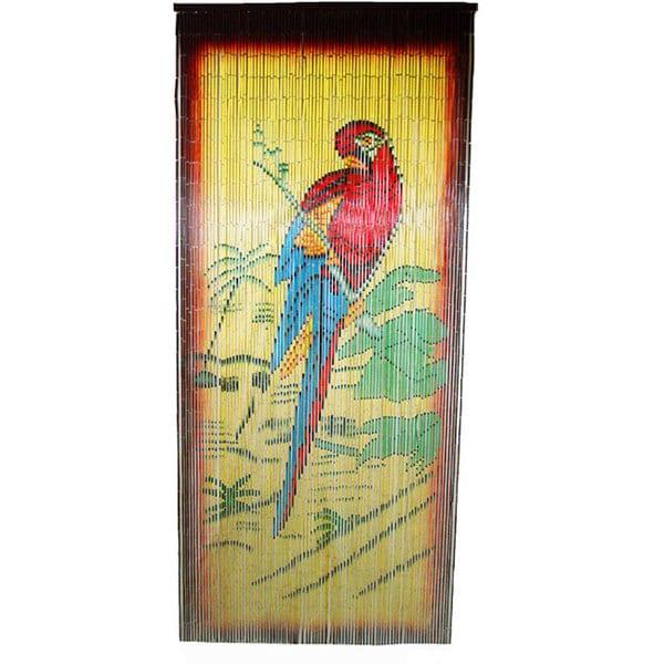 Parrot Scene Bamboo Curtain (Vietnam)