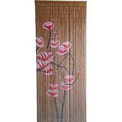Pink Flowers Bamboo Curtain (Vietnam)