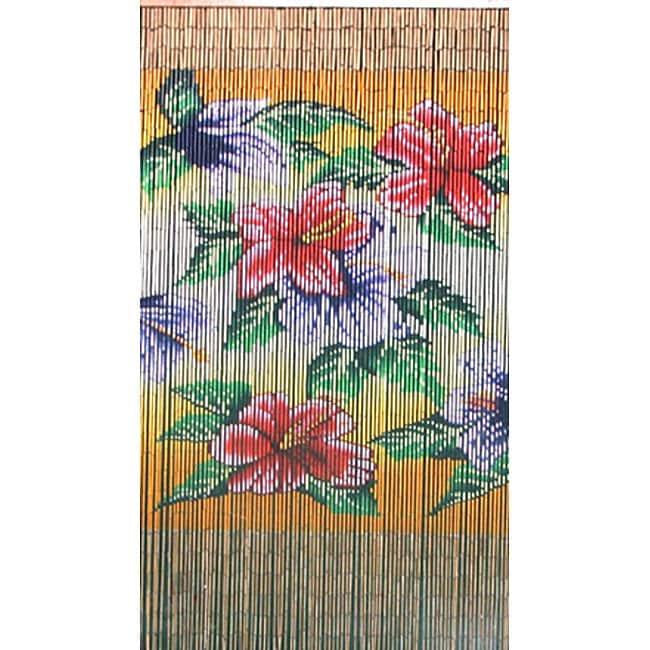 Curtain Tropical Flowers , Handmade in Vietnam