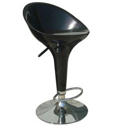 Sybill Adjustable Black Chrome Finish Air Lift Stools (Set of 2)