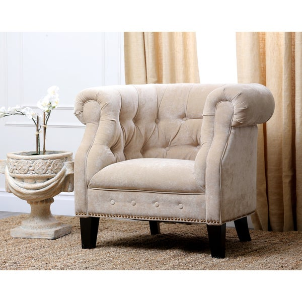 Abbyson Cabo Fabric Nailhead Trim Armchair