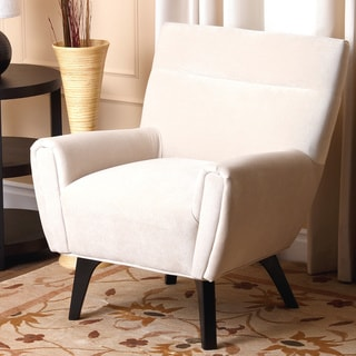 Abbyson Malibu Cream Microsuede Armchair