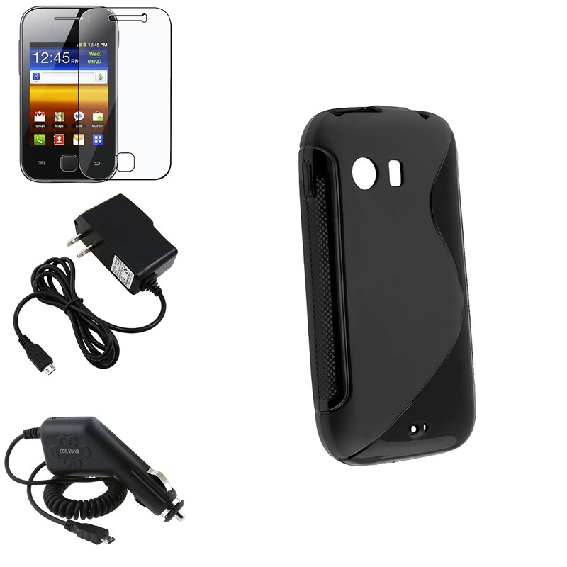 Black TPU Case/ Chargers/ LCD Protector for Samsung Galaxy Y S5360