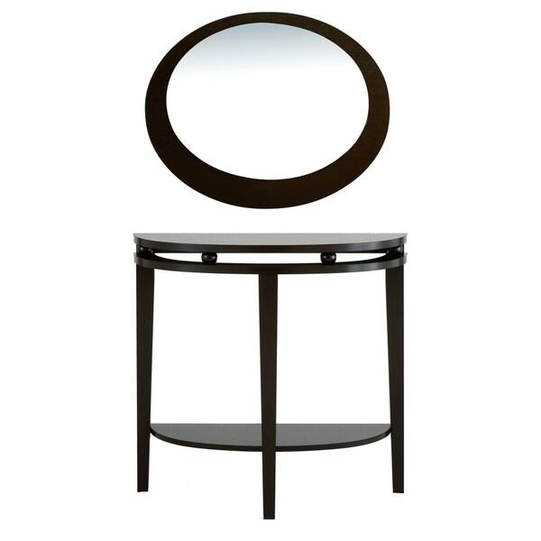 Furniture of America Modern Full Moon Shape Mirror