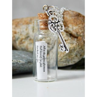 Adrienne Audrey Jewelry Alice in Wonderland Message in a Bottle Necklace