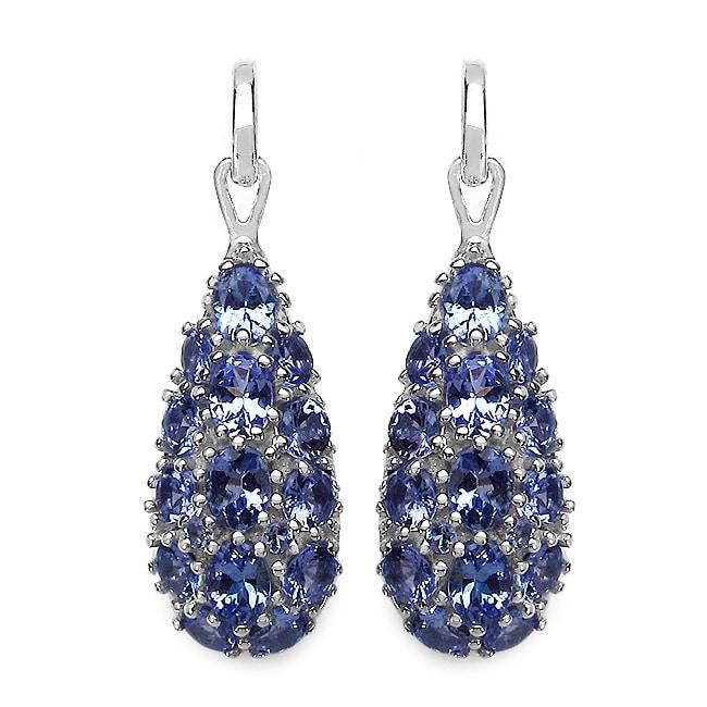 Malaika Sterling Silver Tanzanite Earrings