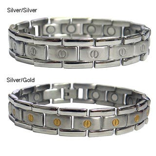 Magnetic Therapy Flat Screwhead Stainless Steel Magnetic Bracelet|https://ak1.ostkcdn.com/images/products/6773434/P14313320.jpg?impolicy=medium