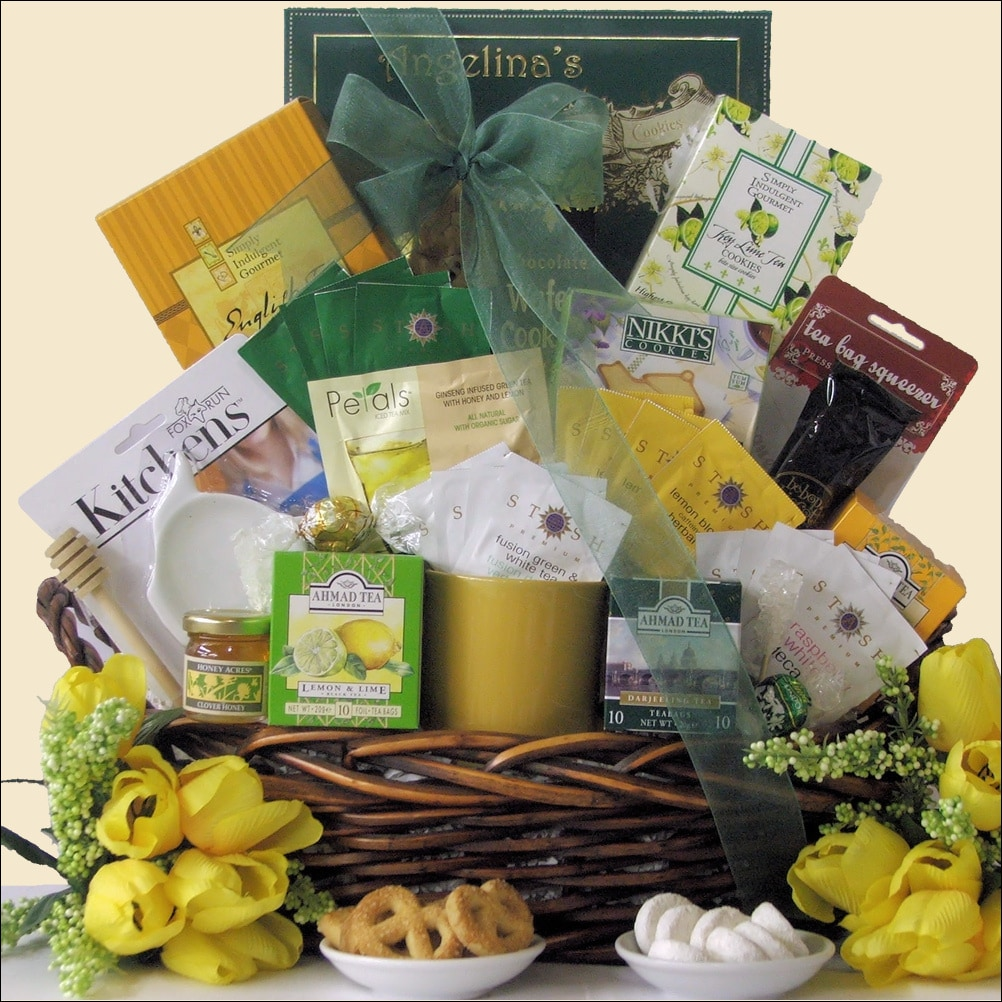 Great Arrivals Tea Treasures Extra Large Gourmet Gift Basket