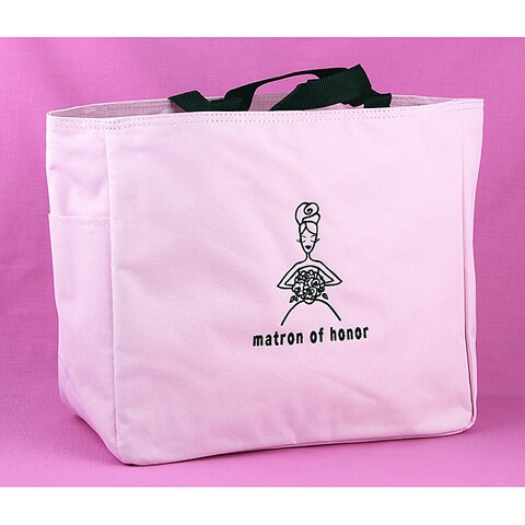 Hortense B. Hewitt Matron of Honor Pink Polyester Gift Tote Bag