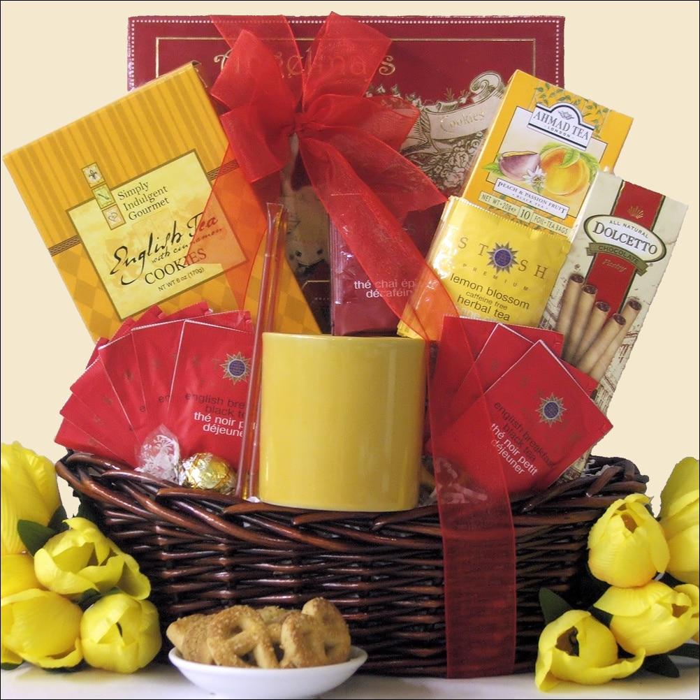 Great Arrivals Tea Treasures Small Gourmet Gift Basket
