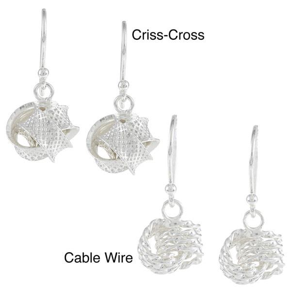 La Preciosa Sterling Silver Love Knot Earrings