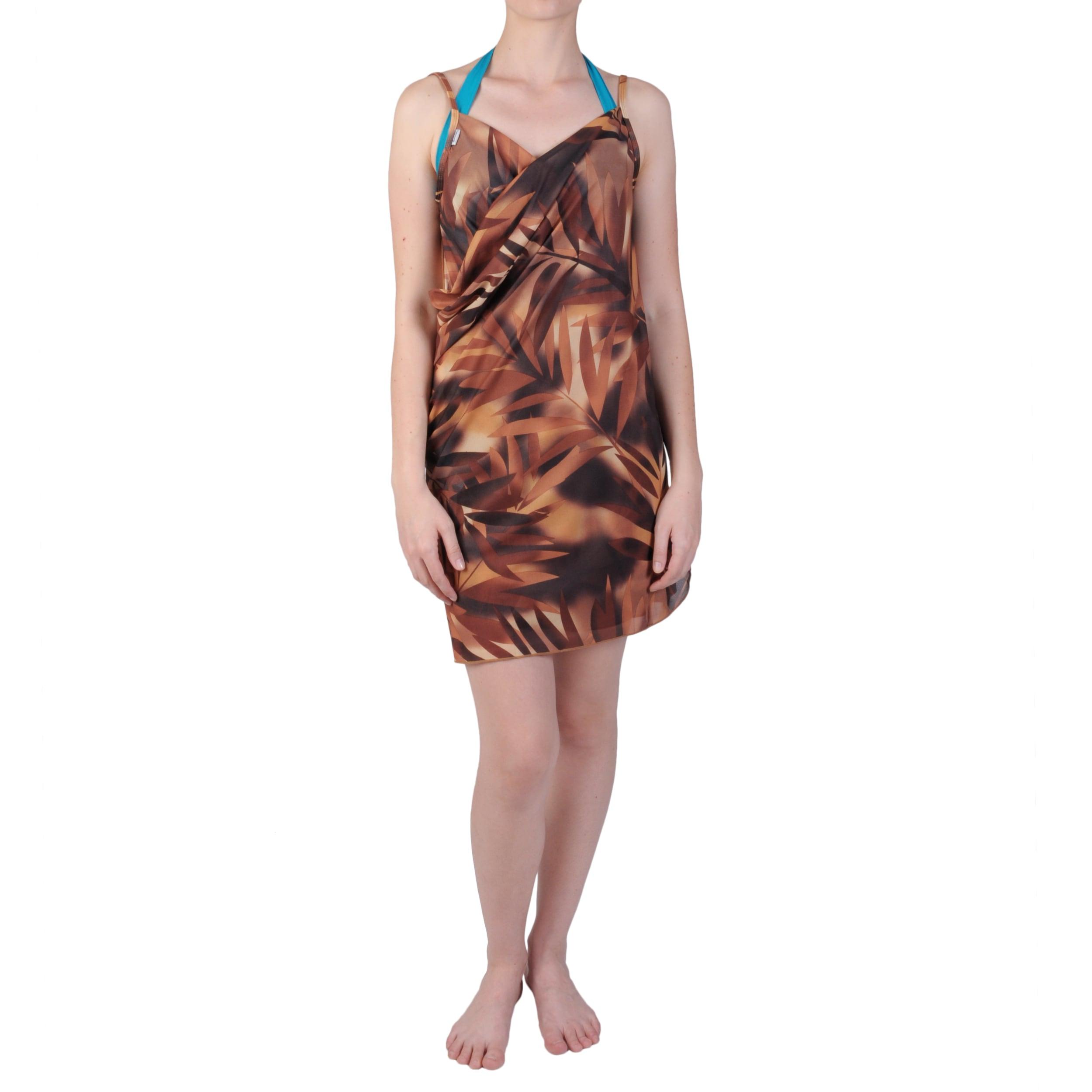 Brown Saress Women's Casual Beach Wrap Dress