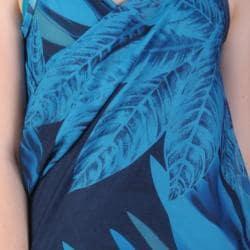 Blue Saress Women's Casual Beach Wrap Dress