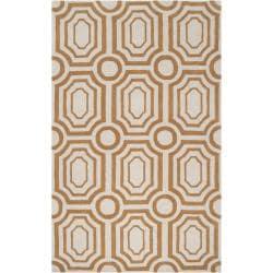 Hand-tufted Gold Hudson Park Polyester Rug (5' x 7'6)