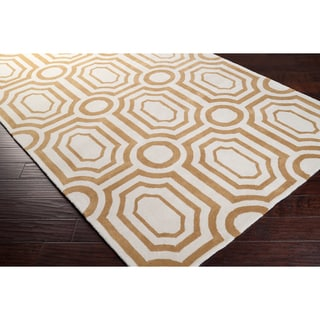 Hand-tufted Gold Hudson Park Polyester Rug (8' x 10')