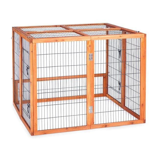 Prevue Pet Products Large Rabbit Playpen (Large), Brown