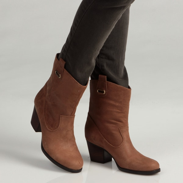 Bandolino Women's Dark Natural Side Tab Boots