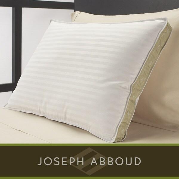 Joseph Abboud Luxury Damask Stripe White Down Pillow