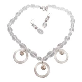 Elegant Crystal Quartz Necklace and Earring Set|https://ak1.ostkcdn.com/images/products/6773823/P14313604.jpg?impolicy=medium