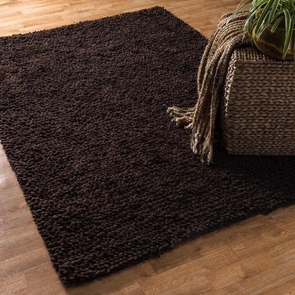 Hand-woven Florence Wool Shag Rug (3'6 x 5'6)