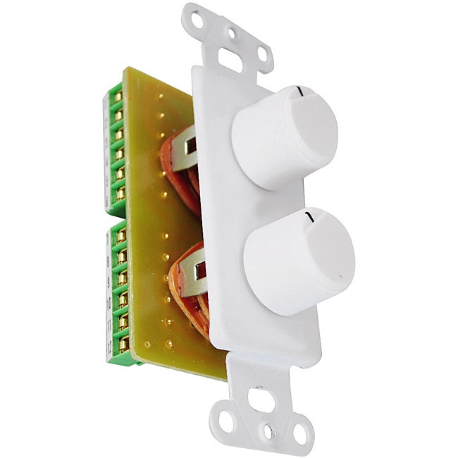 Pyle In-Wall Two Right and Left Speaker Dual Knob Independent Volume Control