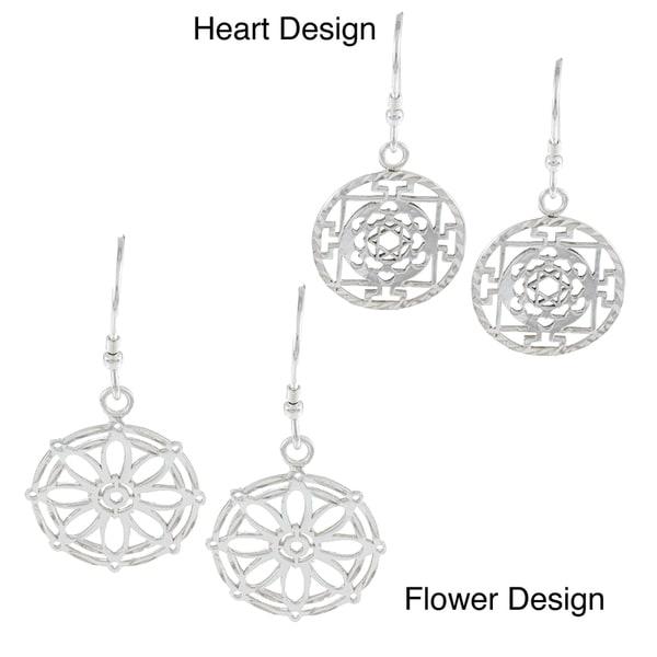 La Preciosa Sterling Silver Circle Earrings