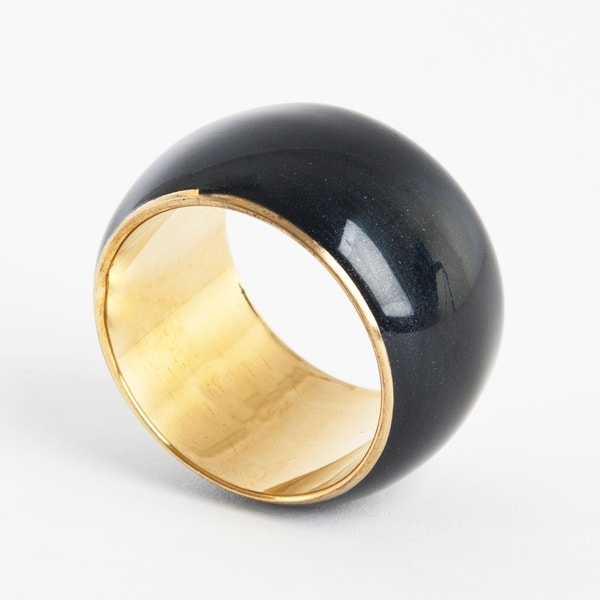 Saro Durable Classic Enamel Napkin Rings (Set of 4)