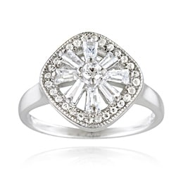 Icz Stonez Sterling Silver Cubic Zirconia Snowflake Ring (1 1/5ct TGW)