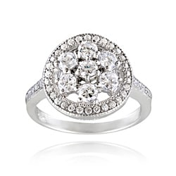 Icz Stonez Sterling Silver Cubic Zirconia Ring (1 5/8ct TGW)