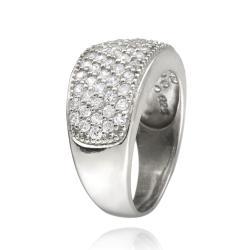 Icz Stonez Sterling Silver Cubic Zirconia Eternity Wedding Ring (1 7/8ct TGW) - Thumbnail 1