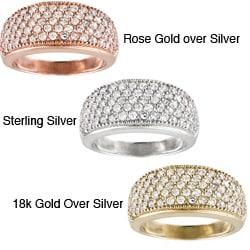 Icz Stonez Sterling Silver Cubic Zirconia Eternity Wedding Ring (1 7/8ct TGW)
