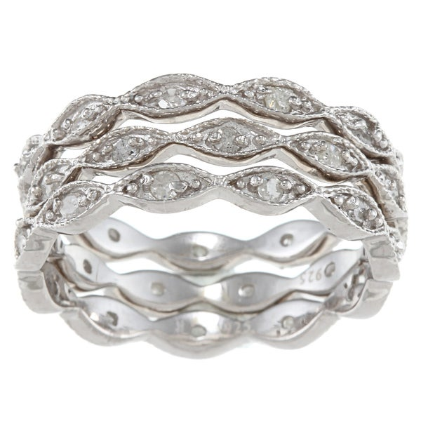 Sterling Silver 3/4ct TDW Stackable Diamond Band (G-H, I1-I2)