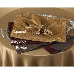 Saro Diamond Pin-tuck Placemat or Plain Napkin Set