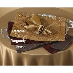 Saro Diamond Pin-tuck Placemat or Plain Napkin Set